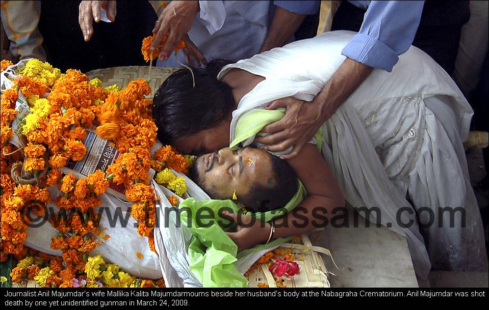 Journalist Anil Majumdar shot death in March 24, 2009.