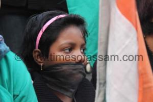 Condolence on death of Delhi Gang rape victim, at Guwahati. Ankur J Das Photography.
