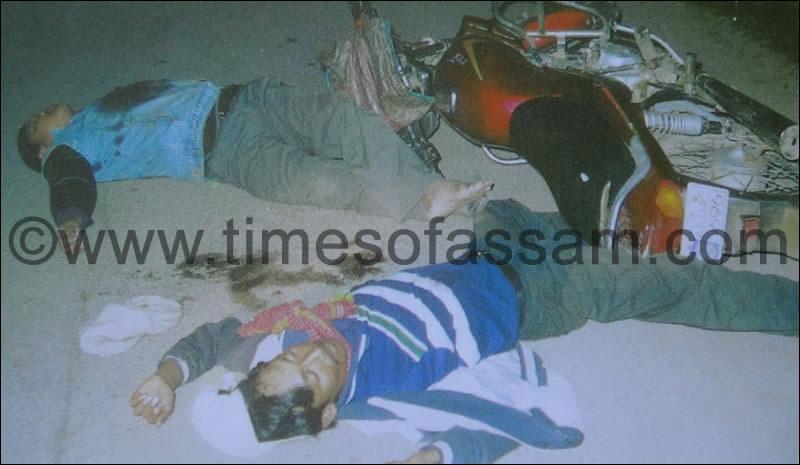 Dead bodies of Nilikesh Gogoi and Bholu Gogoi