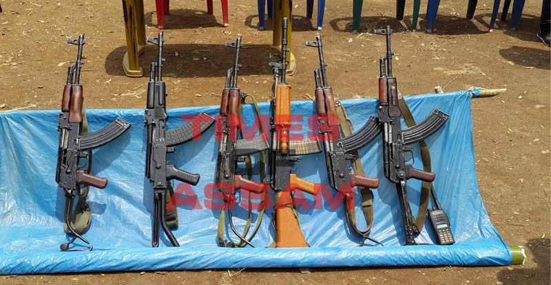 RIFLES CAPTURED FROM INDIAN ARMY IN CHANGLANGSHU AMBUSH ON INDIAN ARMY