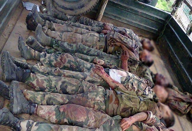 Body of the Army personal killed in the ambush